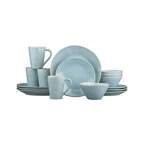 Marin Blue 16-Piece Dinnerware Set
