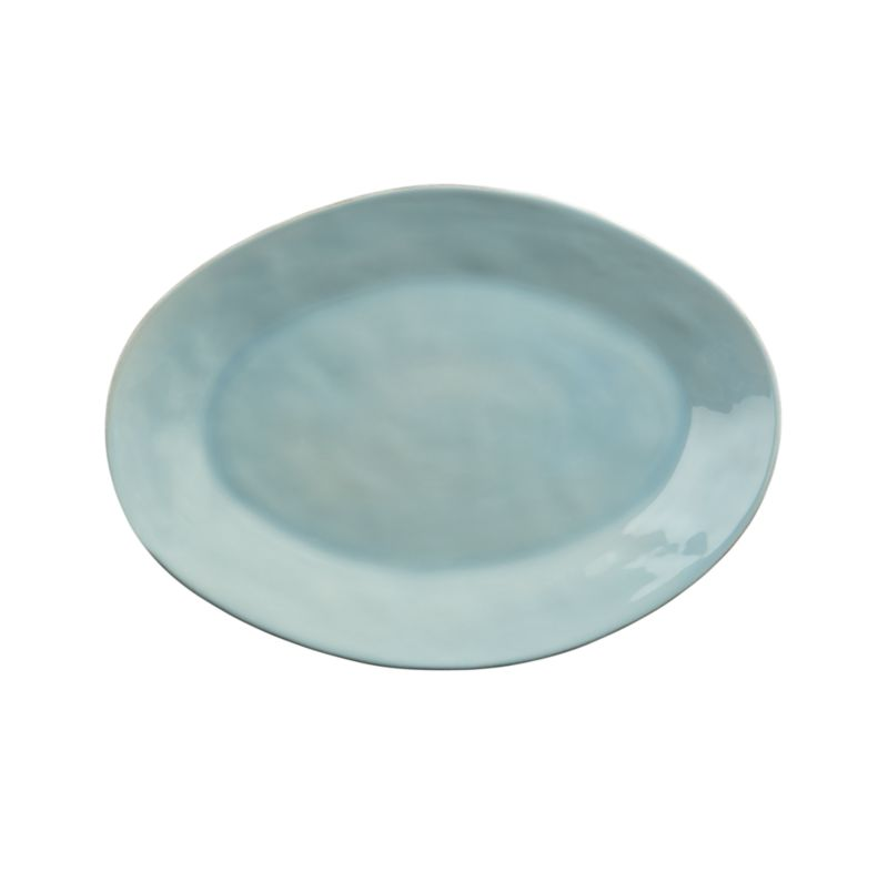Marin Blue Large Oval Platter