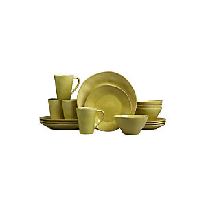 Marin Green 16-Piece Dinnerware Set