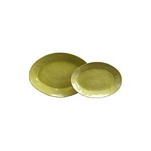 "Marin Green 15.75""-20"" Oval Platters"