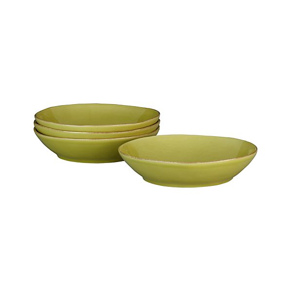 Set of 4 Marin Green Pasta-Low Bowls