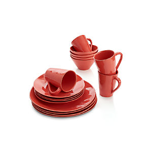 Marin Orange 16-Piece Dinnerware Set