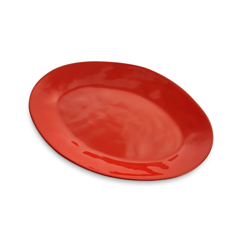 "Marin Orange 20"" Oval Platter"