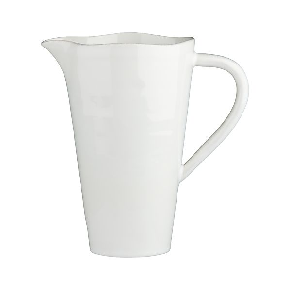 Marin White Pitcher-Vase