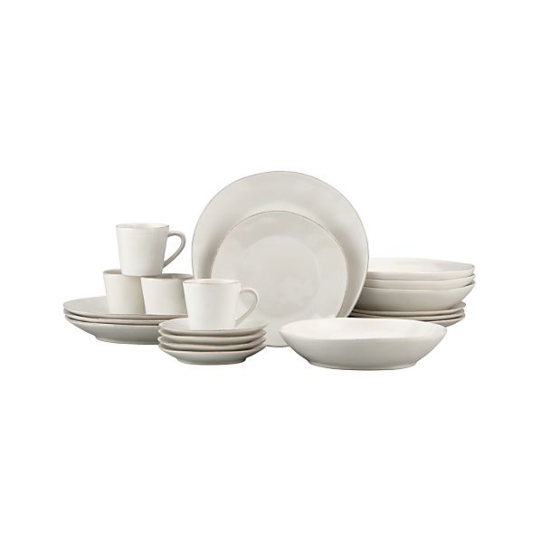 Marin White 20-Piece Dinnerware Set