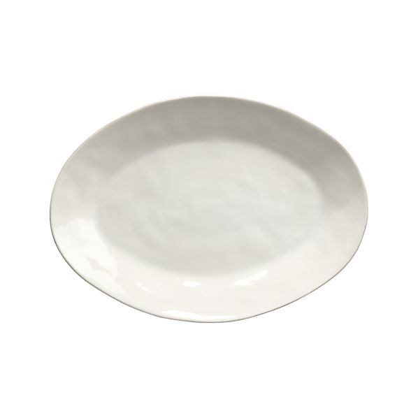 Marin White Large Oval Platter