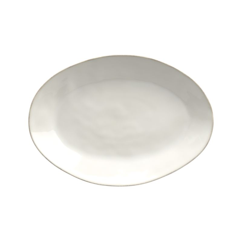 Marin White Small Oval Platter