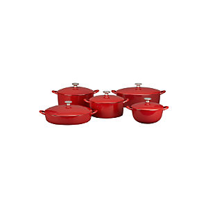 Mario Batali Red Bistro Pan/Dutch Ovens/Soup Pot