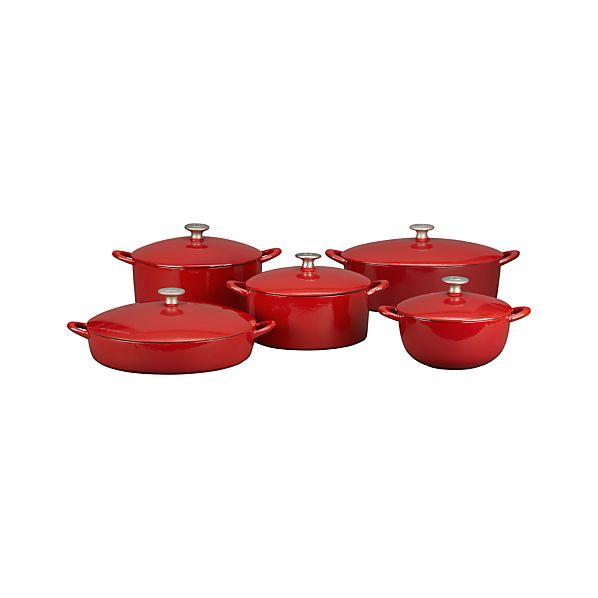 Mario Batali Red Bistro Pan/Dutch Ovens/Soup Pot