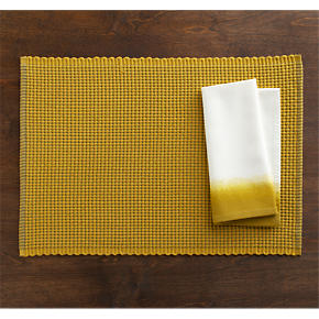 Mario Gold Placemat and Carmen Yellow Napkin