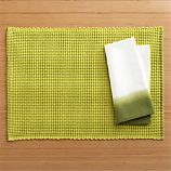 Mario Green Placemat and Carmen Green Napkin