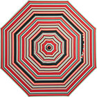 9' Round Sunbrella® Red Multi Stripe Umbrella Cover.