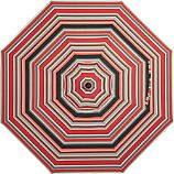 9' Round Sunbrella® Red Multi Stripe Umbrella Cover