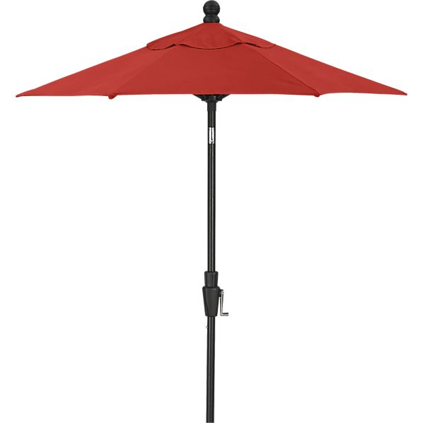 6' Round Sunbrella ® Caliente Umbrella with Black Frame