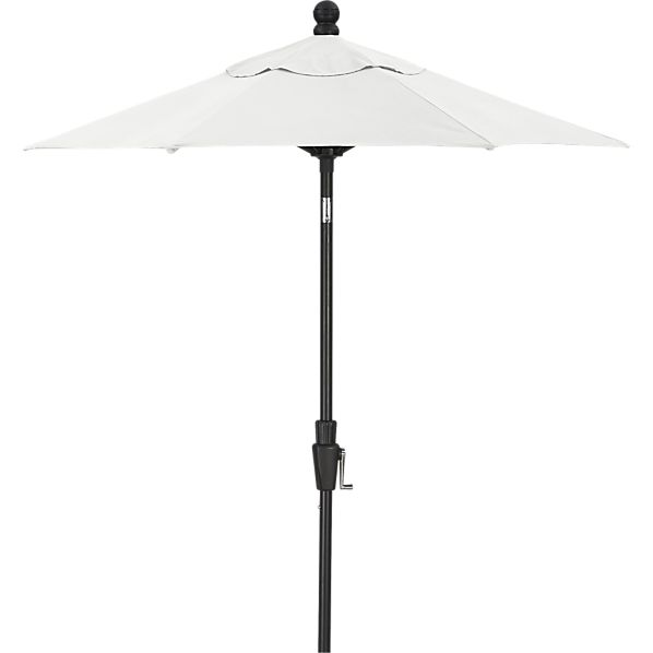 6' Round Sunbrella® Eggshell Umbrella with Black Frame