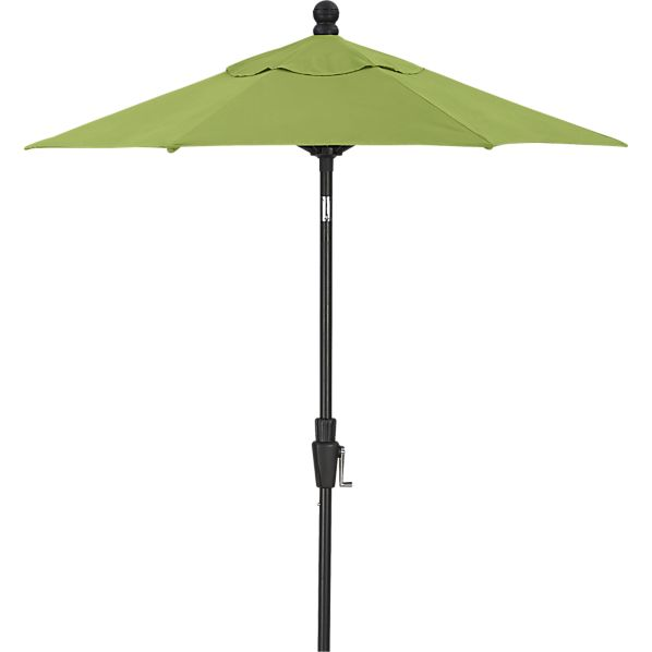 6' Round Sunbrella® Kiwi Umbrella with Black Frame