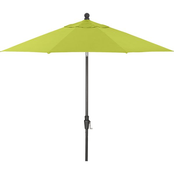 9' Round Sunbrella® Apple Umbrella with Black Frame