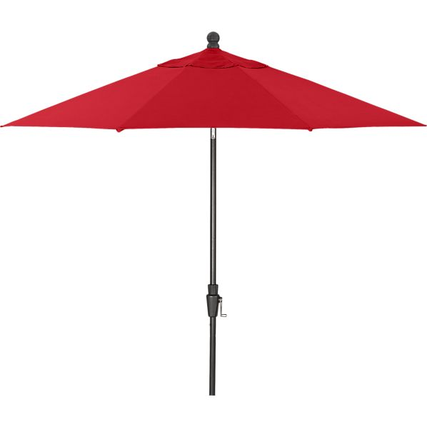 9' Round Sunbrella ® Chili Pepper Umbrella with Black Frame