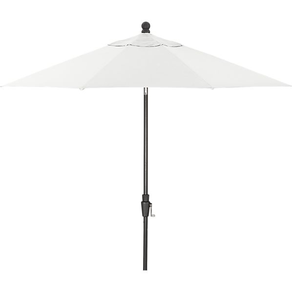 9' Round Sunbrella ® Eggshell Umbrella with Black Frame
