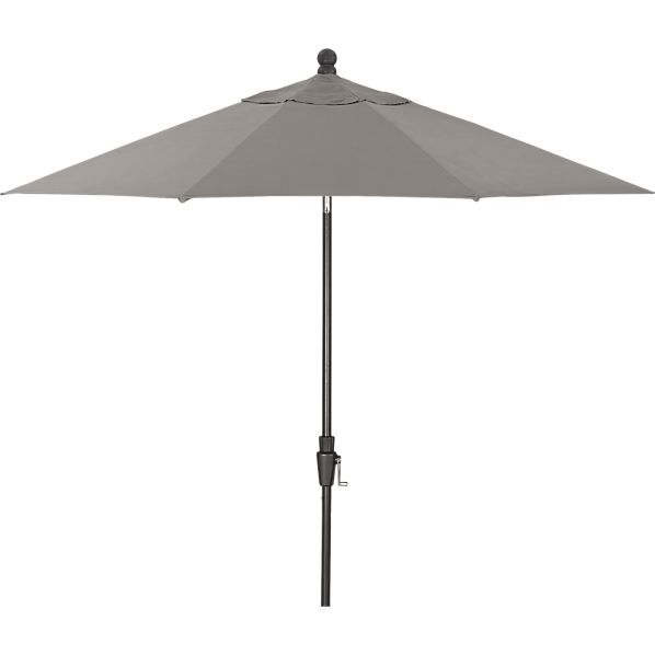 9' Round Sunbrella® Graphite Umbrella with Black Frame