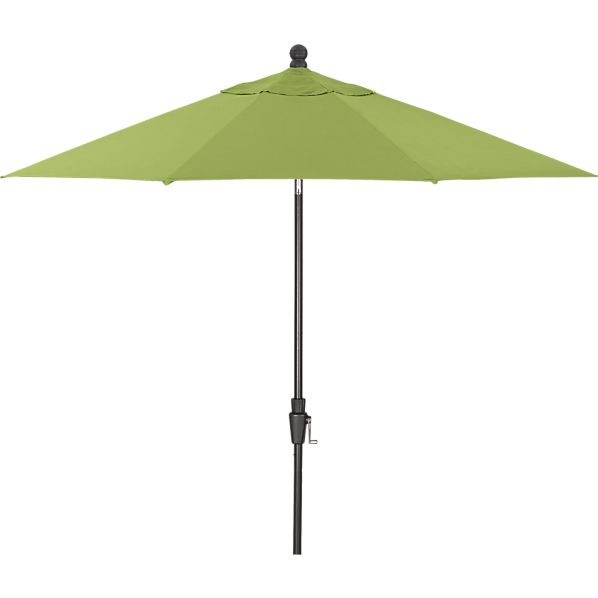 9' Round Sunbrella® Kiwi Umbrella with Black Frame