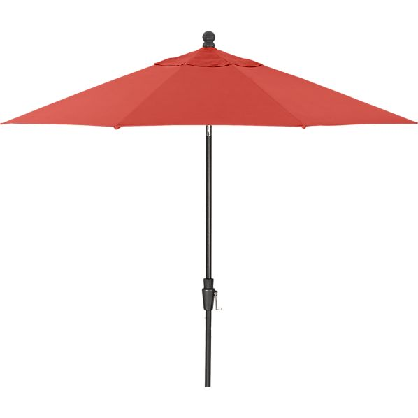 9' Round Sunbrella® Paprika Umbrella with Tilt Black Frame