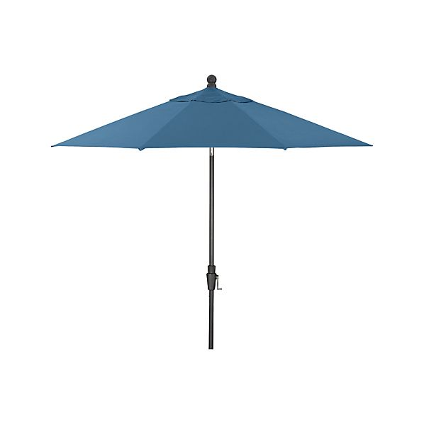 9' Round Sunbrella® Turkish Tile Umbrella with Tilt Black Frame