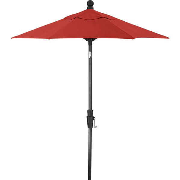 6' Round Sunbrella® Caliente High Dining Umbrella with Black Frame
