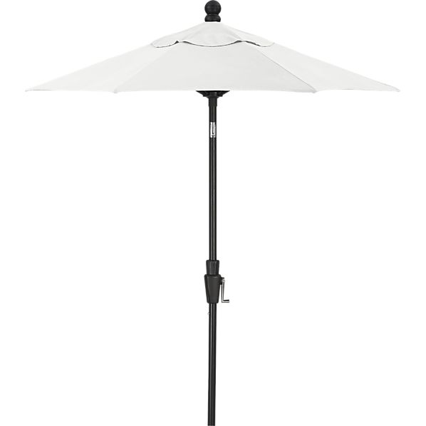 6' Round Sunbrella® Eggshell High Dining Umbrella with Black Frame