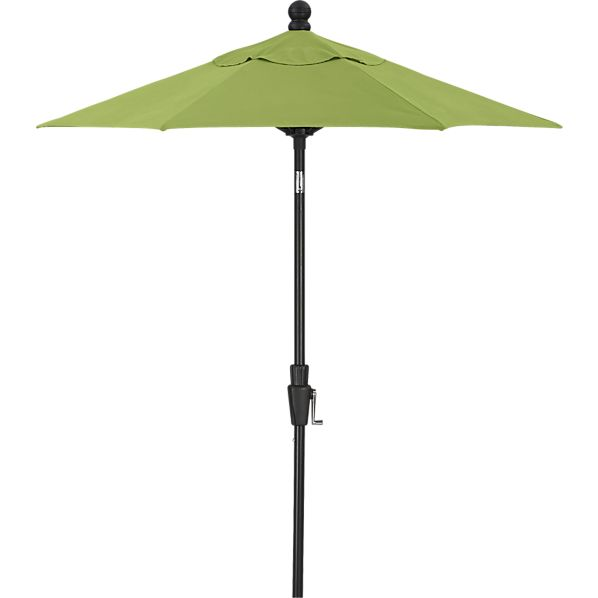 6' Round Sunbrella® Kiwi High Dining Umbrella with Black Frame