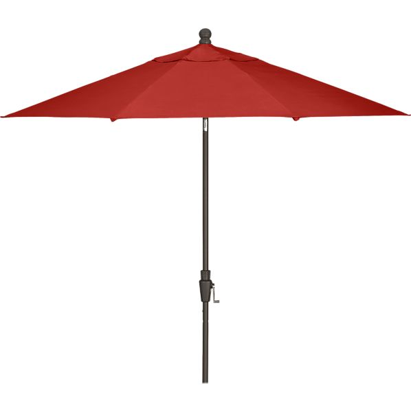 9' Round Sunbrella® Caliente Umbrella with Bronze Frame