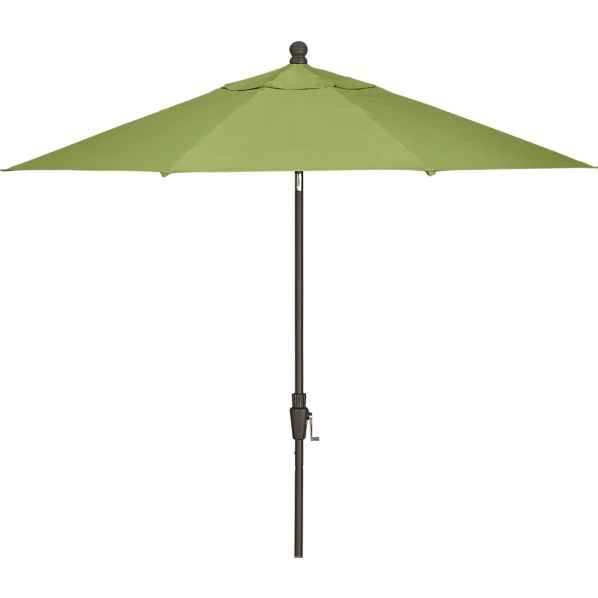 9' Round Sunbrella® Kiwi Umbrella with Bronze Frame