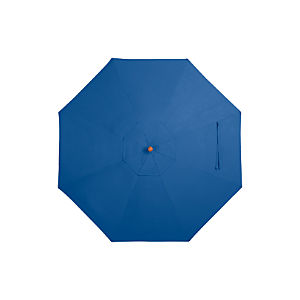 9' Round Sunbrella ® Mediterranean Blue Umbrella Cover