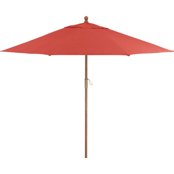9' Round Sunbrella ® Paprika Umbrella with FSC Eucalyptus Frame