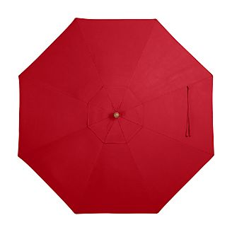 9' Round Sunbrella ® Ribbon Red Umbrella Cover