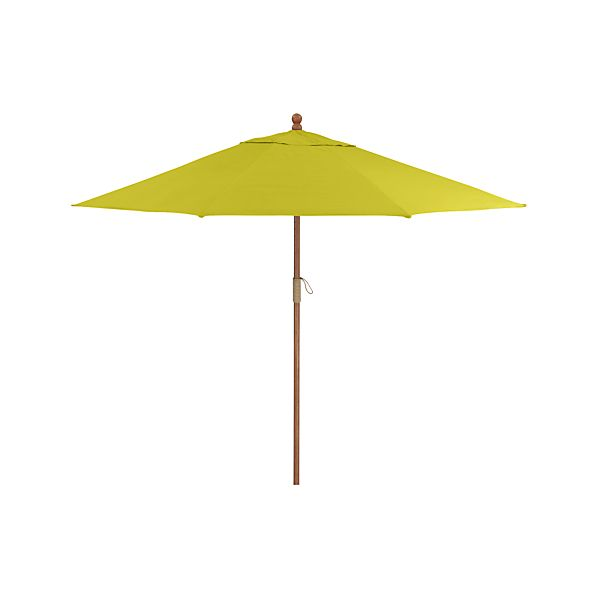 9' Round Sunbrella ® Sulfur Umbrella with FSC Eucalyptus Frame