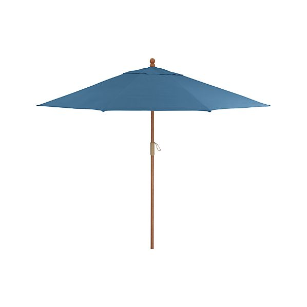 9' Round Sunbrella ® Turkish Tile Umbrella with FSC Eucalyptus Frame
