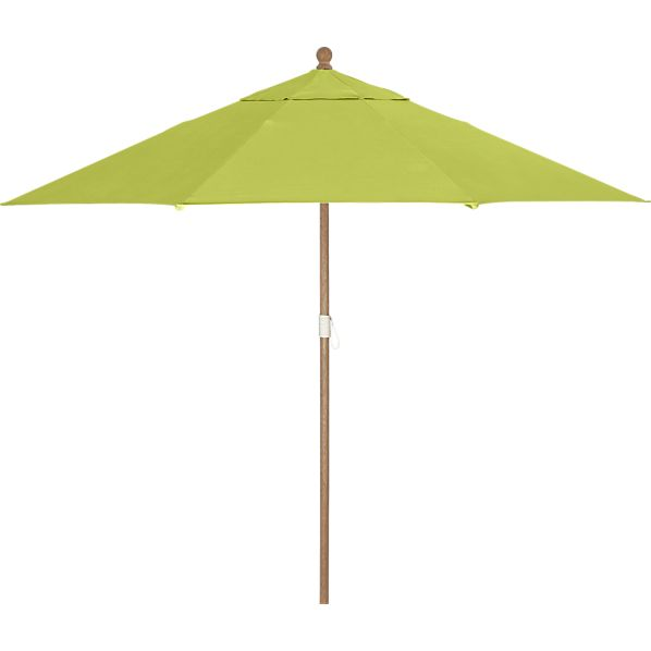9' Round Sunbrella® Apple Umbrella with Eucalyptus Frame