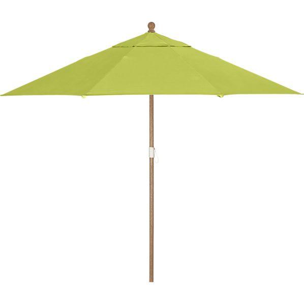 9' Round Sunbrella® Apple Umbrella with Eucalyptus Frame