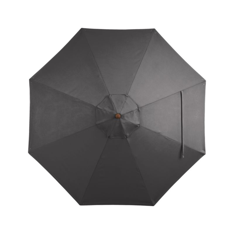 A chic charcoal canopy in fade- and mildew-resistant Sunbrella® acrylic blocks out 98% of the sun's rays. Fits all of our 9' round frames. For frame and stand options with this cover, see below (frames and stands sold separately).<br /><br /><NEWTAG/><ul><li>Cover: fade- and mildew-resistant Sunbrella acrylic umbrella (fits all 9' round frames; spot clean)</li><li>Frames (sold separately): adjustable FSC-certified eucalyptus with solid brass pulley; or aluminum tilt with silver or black finish</li><li>Stands (sold separately): rustproof poly resin and stone-polyester mixture, in charcoal finish</li><li>Small stand accommodates all our aluminum umbrella frames and 9' round euca