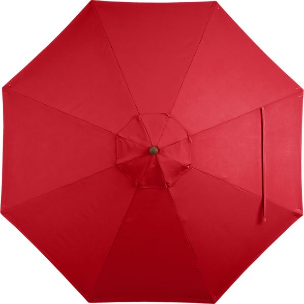 9' Round Sunbrella ® Chili Pepper Umbrella Cover