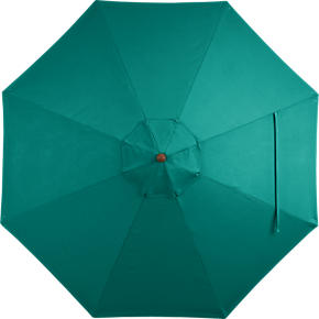9 Round Sunbrella Harbor Blue Umbrella Cover