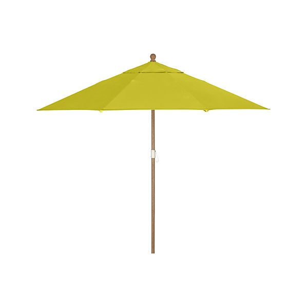 9' Round Sunbrella® Sulfur Umbrella with Eucalyptus Frame