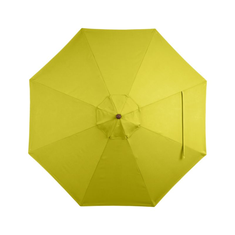 A bright sulfur yellow canopy in fade- and mildew-resistant Sunbrella® acrylic blocks out 98% of the sun's rays. Fits all of our 9' round frames. For frame and stand options with this cover, see below (frames and stands sold separately).<br /><br /><NEWTAG/><ul><li>Cover: fade- and mildew-resistant Sunbrella acrylic umbrella (fits all 9' round frames; spot clean)</li><li>Frames (sold separately): adjustable FSC-certified eucalyptus with solid brass pulley; or aluminum tilt with silver or black finish</li><li>Stands (sold separately): rustproof poly resin and stone-polyester mixture, in charcoal finish</li><li>Small stand accommodates all our aluminum umbrella frames and 9' round eucal