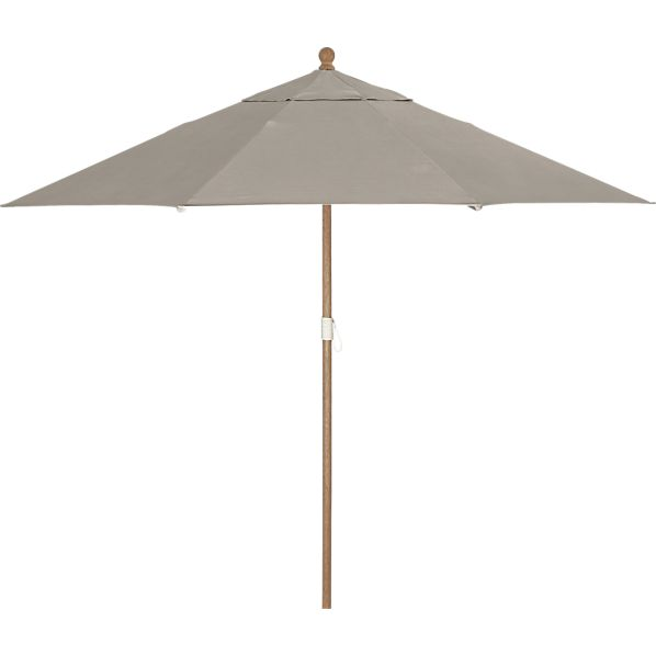 9' Round Sunbrella ® Stone Umbrella with Eucalyptus Frame