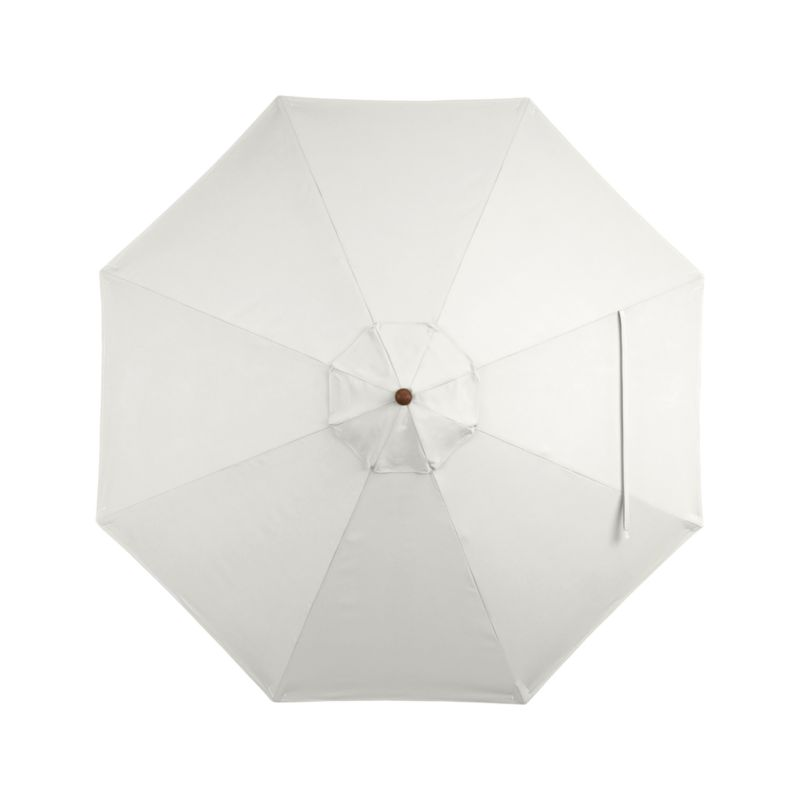 A warm white sand canopy in fade- and mildew-resistant Sunbrella® acrylic blocks out 98% of the sun's rays. Fits all of our 9' round frames. For frame and stand options with this cover, see below (frames and stands sold separately).<br /><br /><NEWTAG/><ul><li>Cover: fade- and mildew-resistant Sunbrella acrylic umbrella (fits all 9' round frames; spot clean)</li><li>Frames (sold separately): adjustable FSC-certified eucalyptus with solid brass pulley; or aluminum tilt with silver or black finish</li><li>Stands (sold separately): rustproof poly resin and stone-polyester mixture, in charcoal finish</li><li>Small stand accommodates all our aluminum umbrella frames and 9' round eucalyptus fr