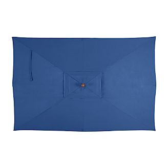 Rectangular Sunbrella ® Mediterranean Blue Umbrella Cover