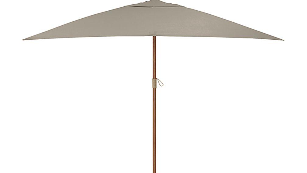 Rectangular Sunbrella R Stone Patio Umbrella With