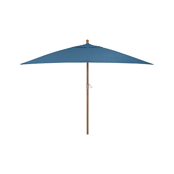 Rectangular Sunbrella ® Turkish Tile Umbrella with Eucalyptus Frame