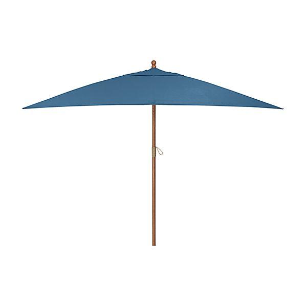 Rectangular Sunbrella ® Turkish Tile Patio Umbrella with Eucalyptus Frame